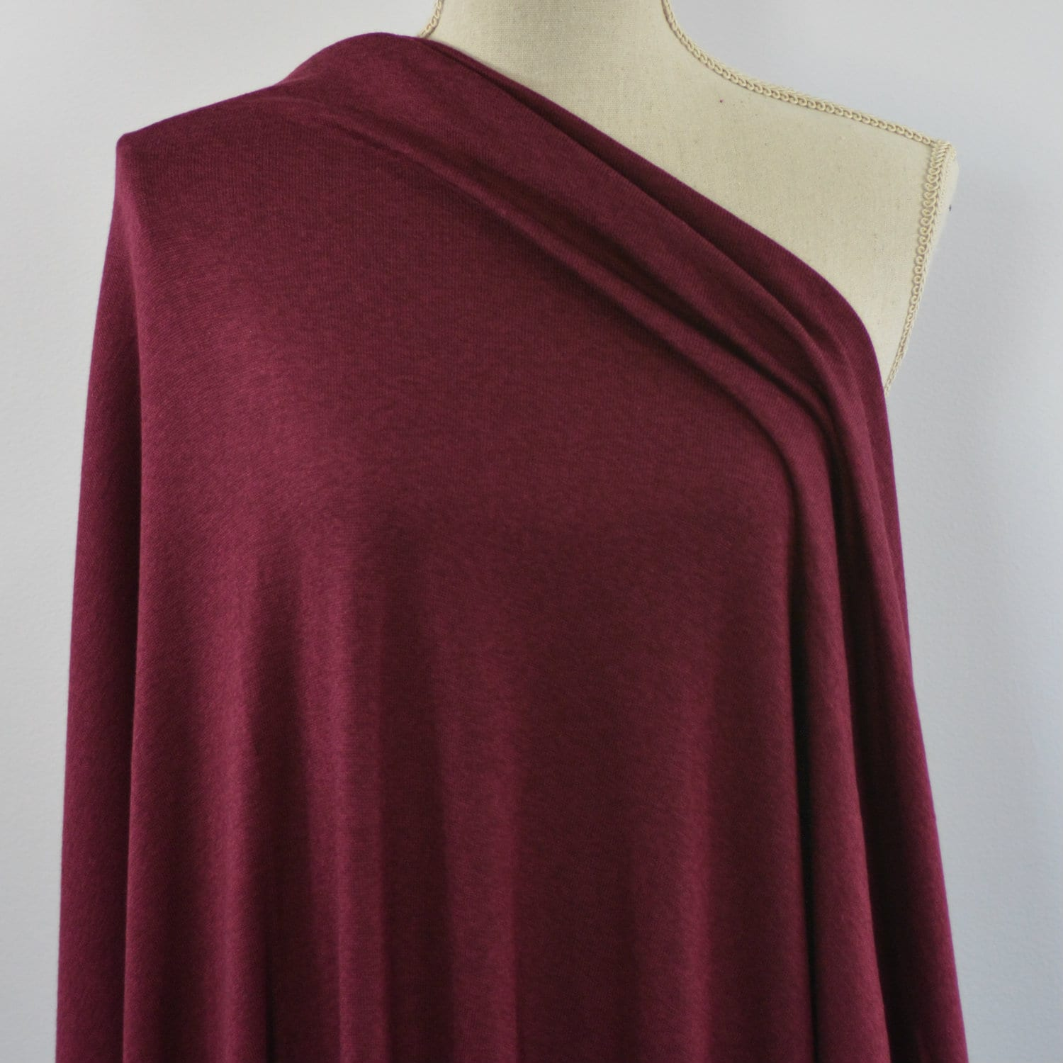 Rayon Cotton Modal Sweater Knit Red Mahogany 1 2 Meter