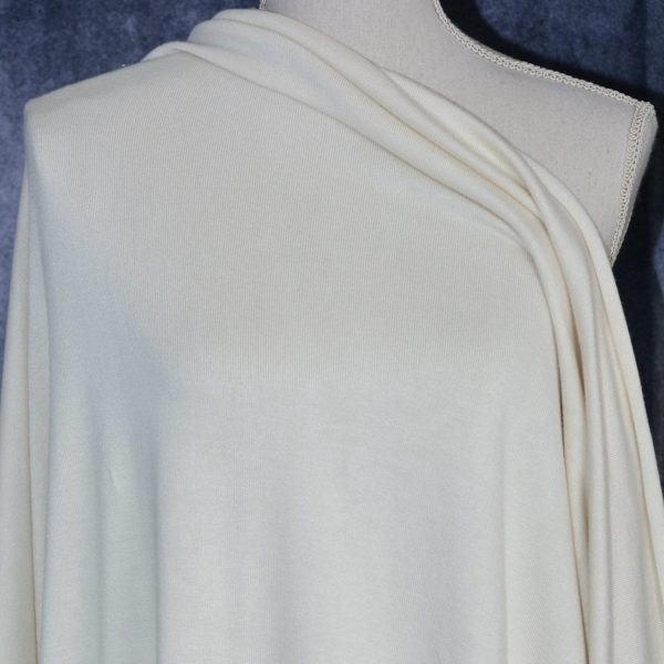 Rayon Cotton Modal Sweater Knit, Cream - 1/2 meter
