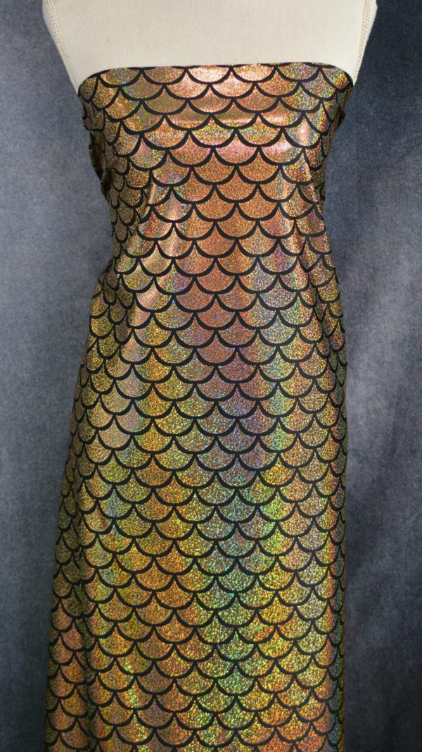 Sparkle Scales, Gold - 1/2 Meter