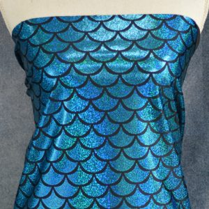 Sparkle Scales, Turquoise - 1/2 Meter