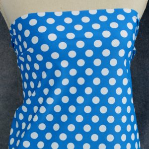 Nylon Spandex Swim Knit, DOTS on Caribbean - 1/2 meter