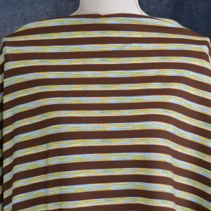 Cotton Spandex, Transportation Stripes - 1/2 meter