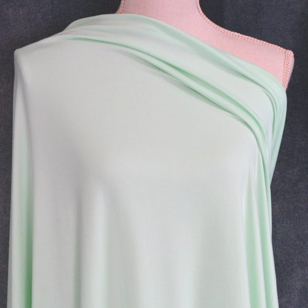Double Brushed Poly Spandex, SOFT MINT - 1/2 meter