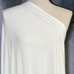 Nouvel Bamboo Rayon Spandex, Ivory - 1/2 meter