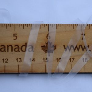 "1/4"" (6 mm) Elastic, Clear - 1 meter"