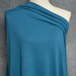 Double Brushed Poly Spandex 280 GSM, TEAL - 1/2 meter