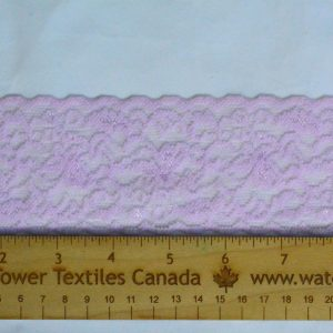 "Stretch Lace Trim, 2.25"" Pale Iris - 1 Meter"