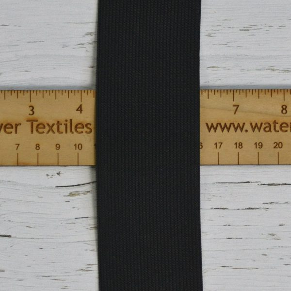 "2"" (51 mm) Elastic, Black - 1 meter"