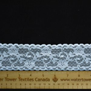 "Stretch Lace Trim, 2"" White - 1 Meter"