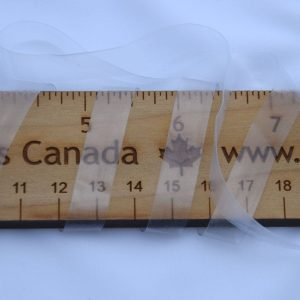 "3/8"" (10 mm) Elastic, Clear - 1 meter"