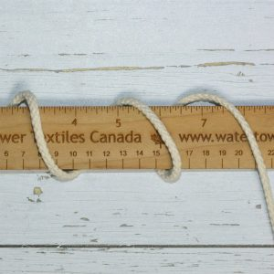 "Drawcord, 3/8"" Cotton, Ivory - 1 meter"