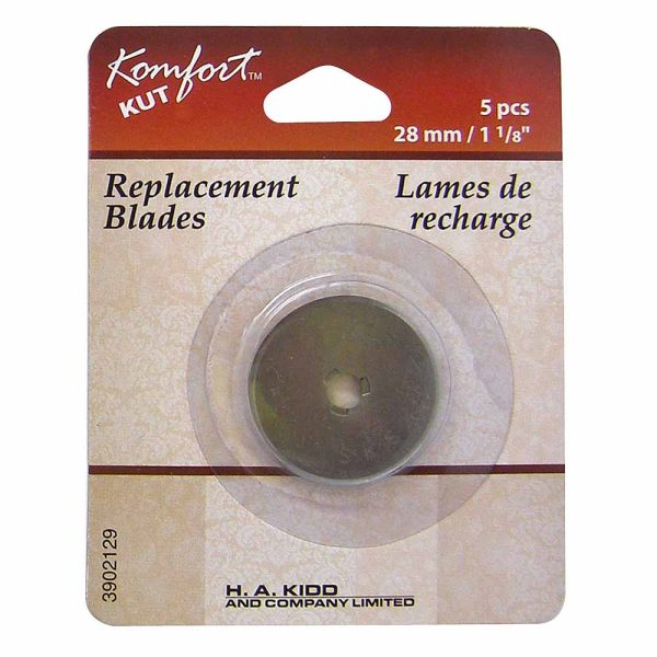 """Replacement Blades for Rotary Cutter, 28mm/1"""", 5 count"""