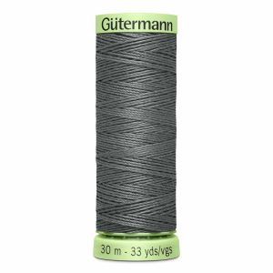 Gutermann Heavy-Duty/Top Stitch Thread, 115 Rail Grey - 30m