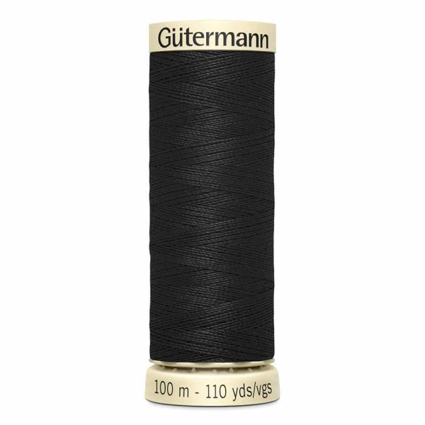 Gutermann, Sew-All Thread, 010 Black - 100 m