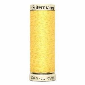 Gutermann Sew-All Thread, 807 Lemon Peel - 100 m