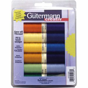 Gutermann Sew All 100m Thread, Primaries - 12 Rolls
