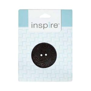 "2-Hole Button, 41 mm (1.6"") Brown - 1 count pkg"