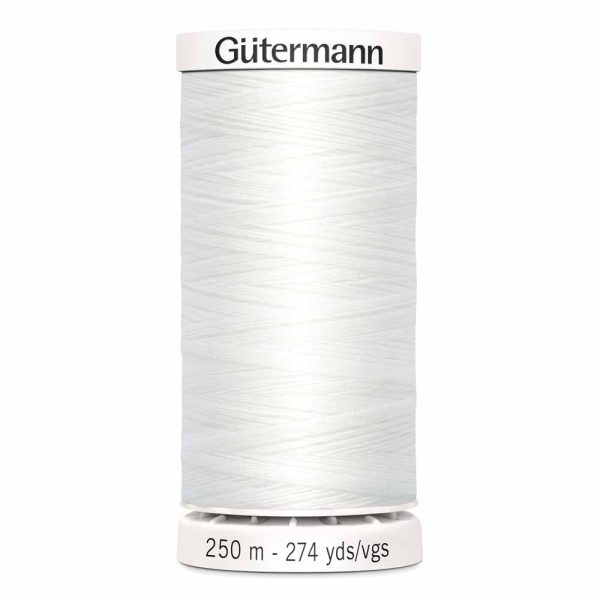 Gutermann, Sew-All Thread, 020 White - 250 m
