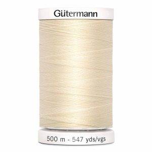 Gutermann Sew-All Thread, 800 Ivory - 500 m