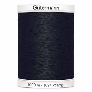 Gutermann, Sew-All Thread, 010 Black - 1000 m