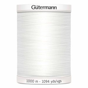 Gutermann, Sew-All Thread, 020 WHITE -1000 m
