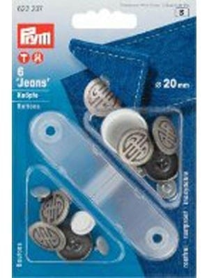 Denim Buttons with Tool