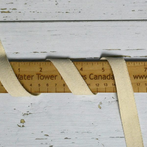"Cotton 3/4"" (19mm) Twill Tape, Natural - 1 meter"
