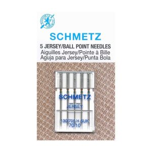 Schmetz Jersey/Ball Point Needles, size 70/10, 5 count