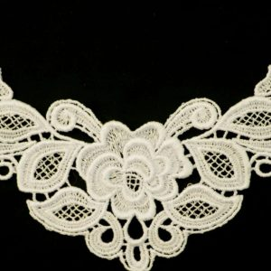 "Venice Lace Yoke Applique, 9""x5"" Ivory"