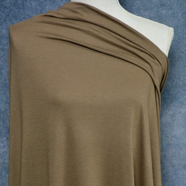 Bamboo Cotton Feather Jersey, Americano - 1/2 meter