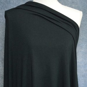 Bamboo Cotton Jersey, Black - 1/2 meter