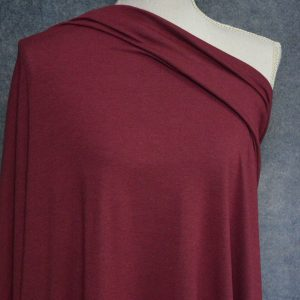 Bamboo Cotton Jersey, Burgundy - 1/2 meter