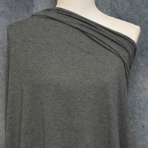 Bamboo Cotton Jersey, Charcoal Mix - 1/2 meter