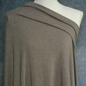 Bamboo Cotton Jersey, Chocolate Milk Mix - 1/2 meter