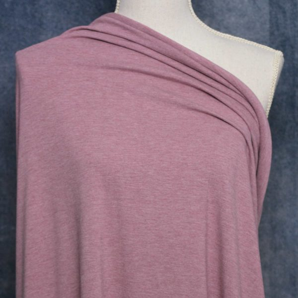 Bamboo Cotton Jersey, Heather Antique Rose - 1/2 meter