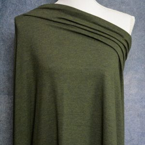 Bamboo Cotton Jersey, Heather Forest - 1/2 meter