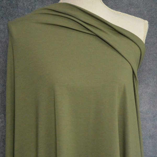 Bamboo Cotton Jersey, Olive - 1/2 meter