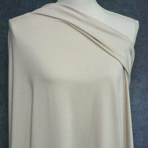 Bamboo Cotton Jersey, Parchment - 1/2 meter