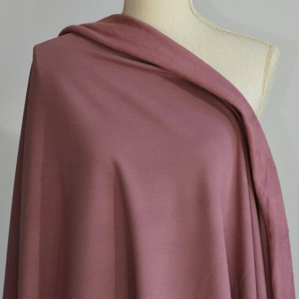 Bamboo Sweatshirt Fleece, Antique Rose - 1/2 meter