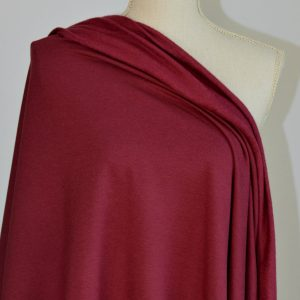 Bamboo Sweatshirt Fleece, Burgundy - 1/2 meter