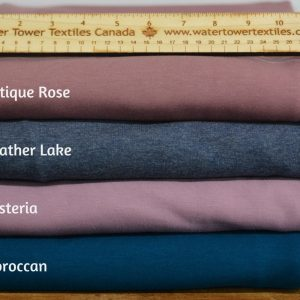 Bamboo Sweatshirt Fleece, Heather Lake - 1/2 meter