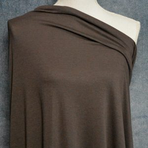 Bamboo Cotton Feather Jersey, Dark Coffee - 1/2 meter