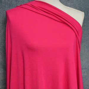 Bamboo Cotton Feather Jersey, Jazzy Pink - 1/2 meter