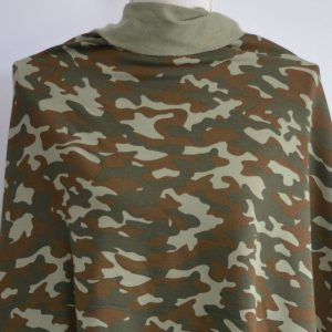 Bamboo Stretch French Terry, Camo - 1/2 meter