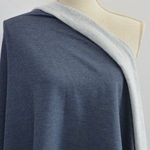 Bamboo MERINO Sweatshirt Fleece, Heather Lake - 1/2 meter