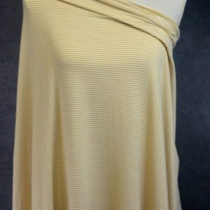 Bamboo Organic Cotton Jersey 2mm Stripes, DARK MUSTARD/White - 1/2 meter
