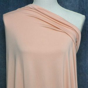Double Brushed Poly Spandex, PALE APRICOT - 1/2 meter