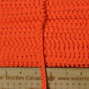 Baby Pom Pom Trim, Orange - 1 meter