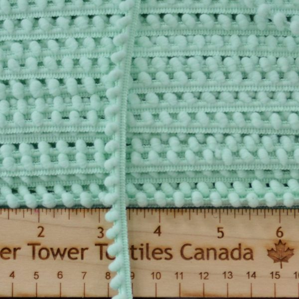 Baby Pom Pom Trim, Light Mint - 1 meter