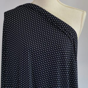 Nouvel Bamboo Rayon Spandex, Mini Dots on Black - 1/2 meter